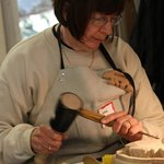 """B&B'er plus carving workshop student"