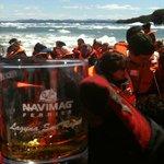 Uno de los viajes que parten desde la Ruca es la navegación a Puerto Natales en medio de hielos