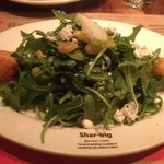 shared goat cheese salad