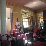 The bar/lobby...