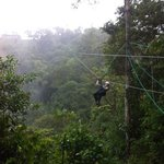 zip lining at Mindo