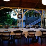 the open air dining porch