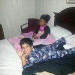Kiddos watching some TV