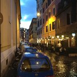 Streets of Rome - Walk to dinner from hotel