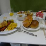 Hotel Breakfast - Simple but filling affair