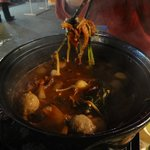 The Chicken Hotpot at Temple Street Night Market - Delicious especially on a cold winter night!