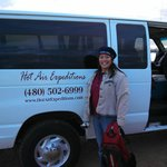 shuttled from the Deer Valley Airport to the take off site, about 15 mins north