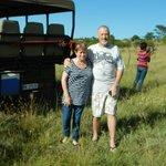 Mike & Linda enjoying a break during Game drive 08/12/12