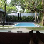 From our bedroom to the pool