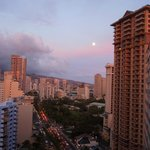 Moonrise city view from my lanai.