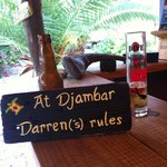 Sign made for Darren by Ilse foir his birthday :-)