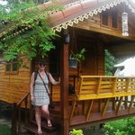 Our little wooden bungalow