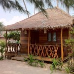 Our chalet/hut on the beach