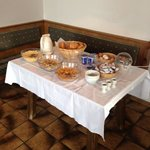 this is the breakfast spread for 30 guests! where's the toast, ham and cheese?