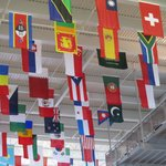 Flags at Entrance