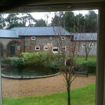 View from our room in Horsley Court