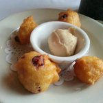 Warm Cranberry Fritters with Maple Butter