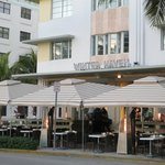 Hotel front and sidewalk dining