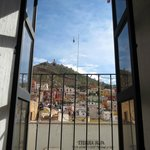 Looking out of room 102 with Teleferico bufa