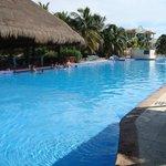 Swim up bar at pool