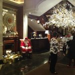 Lobby for holiday entrance