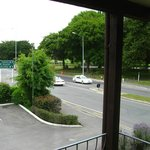 View from hotel balcony of Hagley Park