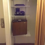 Mini fridge and Coffee Maker