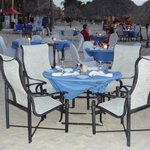 Simply Fish Restaurant dining on the beach
