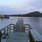 Ferry in and dock at Resort
