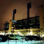 view from the hotel of PNC park