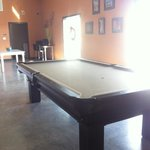 Pool table in lobby.