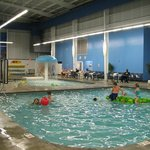 Indoor pools with basketball that was very popular!
