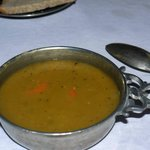 authentic pea soup served in traditional style