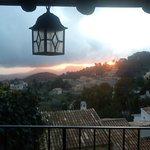 Puesta de sol desde la terraza del dúplex Cuculla