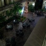 Inside courtyard and breakfast dining area