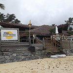 O Hotel visto da praia