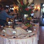 breakfast buffet in the lobby