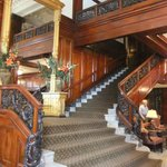 Grand staircase in the lobby.