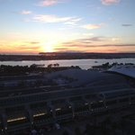 Sunset view of San Diego Bay from our room.