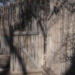 Twig Lattice Fencing on Grounds of  Hacienda Vargas