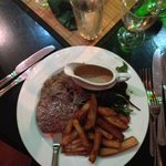 steak and chips. yum