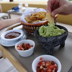 gluten free chips, guacamole and salsa-delivered poolside!