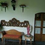 Room doors & sitting area
