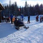 snowmobile shuttle to the ski school