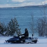 Snowmobiling at Cobble Beach