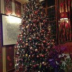 Christmas tree in the lounge