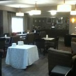 The renovated dining area. A really good breakfast can be had here.