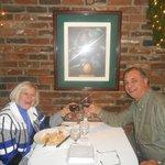 Enjoying a great dinner at Bricks Restaurant, Reno, NV