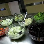 Fresh salads for breakfast