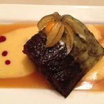 Sticky Toffee Pudding with custard